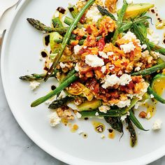 Meal-Sized Roasted Vegetable and Feta Salad Roasted Vegetable Salad, Roasted Vegetables, Healthy Dinner Recipes, Cooking Recipes, Sicilian Recipes, Sicilian Food, Roasted Walnuts, Feta Salad, Serious Eats
