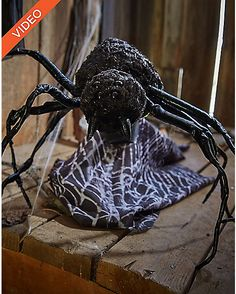 12 Inch Attack Spider Animatronics - Decorations - Spirithalloween.com