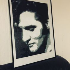 Elvis - Portrait. - Perler by Mille on facebook