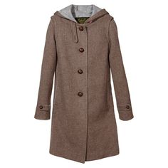 Loden, a time-honored wool textile developed in Austria, is famed for being both lightweight and warm. Here, it lends itself perfectly to a clean hooded shape. What I Wore, What To Wear, Langer Mantel, Belted Coat, Dress Codes, Timeless Fashion, Style Guides, Hoods, Style Me