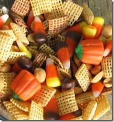Drizzled with chocolate this would be an amazing snack mix!  Perfection!