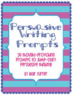 ~Joy in the Journey~: Writing Workshop: Persuasive Letter Writing