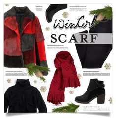 """""""Winter Scarf Style"""" by lenochca ❤ liked on Polyvore featuring Jocelyn, Louis Vuitton, J.Crew and scarf"""