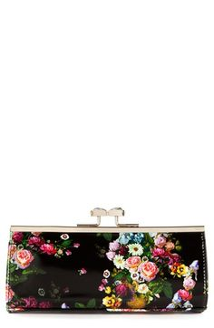 Ted Baker London Floral Print Crystal Bow Clutch available at #Nordstrom
