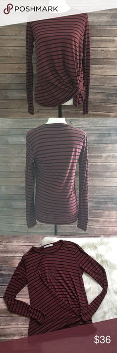fe178549f0e9d Anthropologie Stateside Striped Knot Detail Top
