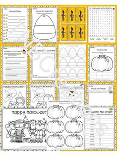 Have fun and save time and money on Halloween with these fun Halloween printable activities and worksheets!