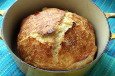 ♡♡♡♡♡Fastest no knead bread. (Use this one!!!  Very Ono !! used 2 t. Yeast-proofed, added garlic, rosemary and kalamata)