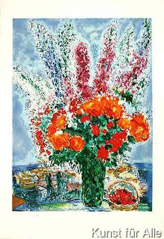 Marc Chagall - Bouquet de Renoncule Prägeste.