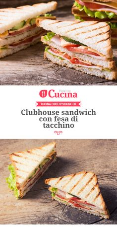 Clubhouse #sandwich con fesa di #tacchino Panini Sandwiches, Toast Sandwich, Easy Cooking, Cooking Time, Baked Crab Cakes, Tacos, Kitchen Recipes, Summer Recipes, Clubhouse