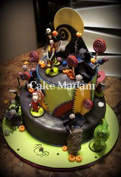 wow Nightmare Before Christmas cakes