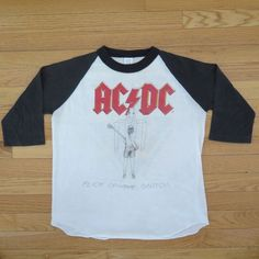 VINTAGE ORIGINAL ACDC AC DC CONCERT TEE SHIRT 1982 FLICK OF THE SWITCH TOUR S/M #Unknown #GraphicTee