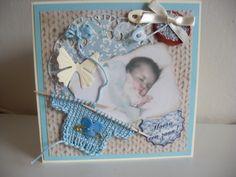 Geboorte kaart voor jongens.. Birth announcement for á Baby Boy..