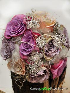 Brooch Bouquets, Green Art, Vintage Brooches, Artificial Flowers, Dublin, Wedding Flowers, Rose, Shop, Handmade