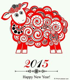 """Happy Chinese New Year! Given that the temperature has been slipping into the negative numbers this week, it seems outrageously optimistic that the Chinese New Year celebration is also known as the """"Spring Festival."""" 2015 is the Year of the Sheep. Happy Chinese New Year, Chinese New Year Party, Chinese New Year Crafts, Happy New Year 2015, Happy New Year Cards, Chinese Holidays, Happy Year, New Year Wallpaper, Cool Wallpaper"""