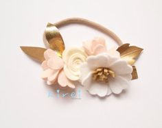 Discontinuing// Sweetheart Rose Feather Crown by kireihandmade