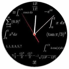 Engineer's Clock, this is so geeky but it's awesome! Math Clock, Physics And Mathematics, Engineering Science, Wheel Of Life, Math Formulas, Wall Clock Design, Love Math, Math Projects, Math Humor