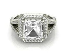 2.76ct Asscher cut vintage style ring 68926-Image 1
