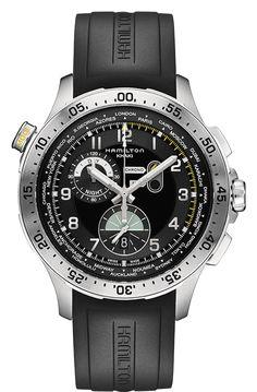 H76714335 - Khaki Aviation Worldtimer Chrono Quartz   Hamilton Watch