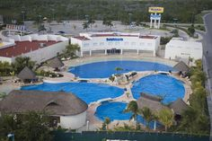 View of Cancun Dolphinaris!  Loved this place!