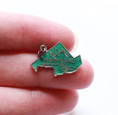 Vintage STERLING SILVER 925 Maryland State Enamel Pendant by paststore on Etsy