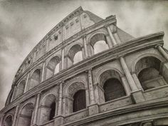 Roman Colosseum sketches | Colosseum - pencil drawing