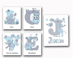 Love nursery decor baby boy name poster animals wall art elephant giraffe print kids room decoration letterpress artwork typography blue