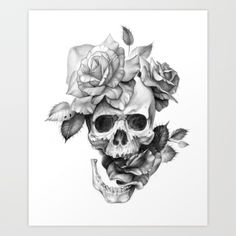Human Skull with roses pencil drawing human skull, skull, roses, rose, pencil, drawing, tattoo, horror, black and grey, black, grey, black and white, pencil, illustration, drawing, black, pencil, ink, pencil drawing, horror art, halloween, flowers, flower, black and white skull, realistic rose, realistic skull, black and white laptopcase, black and white phone case, black and white legging, black and white t shirt, black and ...