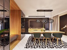 Family friendly home packed with modern decor ideas & home design features for different rooms. Find storage ideas, new furniture styles and colour combinations Flat Interior, Interior And Exterior, Furniture Styles, New Furniture, Futuristisches Design, Skyfall, Lounge, Love Home, Contemporary Interior