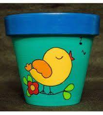 Risultati immagini per macetas pintadas Flower Pot Art, Flower Pot Design, Flower Pot Crafts, Flower Pot People, Clay Pot People, Clay Pot Projects, Clay Pot Crafts, Painted Plant Pots, Painted Flower Pots