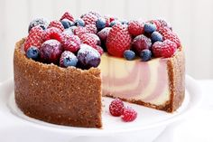 Indulge your guests this Christmas with a luxurious summer berry cheesecake.