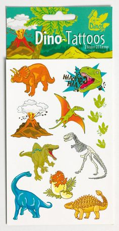 Die süßen Dinosaurier Tattoos sind das perfekte Geschenk für die kleinen Gäste auf einem Dino Kindergeburtstag. Die Dino Tattoos bekommst Du bei www.party-princess.de