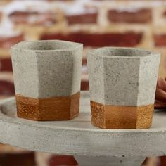 Copper and Concrete Tealight Holders by Beau-coup
