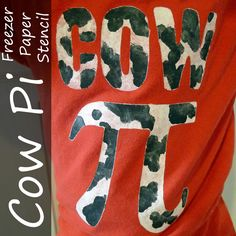 Helping Little Hands: Cow Pi T-shirt - Freezer Paper Stencil