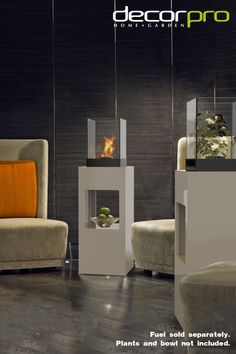 The Vertikal is a side table, a centerpiece, and a beautiful place to sit and warm up all in one. The integrated fireburner is covered with tempered safety glass . Pedestal, Safety Glass, Elegant Homes, Plant Decor, Accent Pieces, Accent Decor, Beautiful Places, Home And Garden, Fresh Fruit