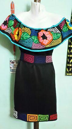 #artesaniasmexico Mexican Fashion, Mexican Outfit, Mexican Dresses, Cool Outfits, Fashion Outfits, Womens Fashion, Dama Dresses, Painted Clothes, Western Dresses