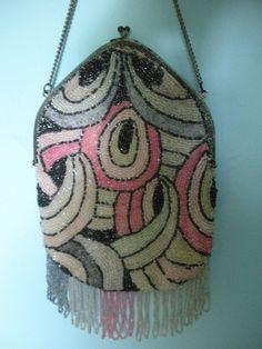 vintage art deco beaded purse - Google Search