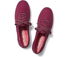 keds champion micro dot lace // beet red maroon