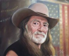 "Saatchi Art Artist TEODOR BOZHINOV; Drawing, ""Portrait of Willie Nelson"" #art"
