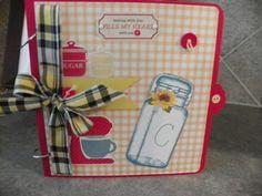 Scrapbook  Handmade Chipboard Album 8x8 Tabs by MemoriesbyDee