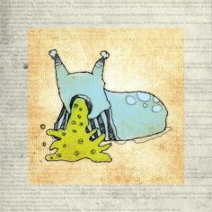 'A PASTE-SLUG FROM QUAGMIROS II' by Hayes Design on artflakes.com as poster or art print $16.63