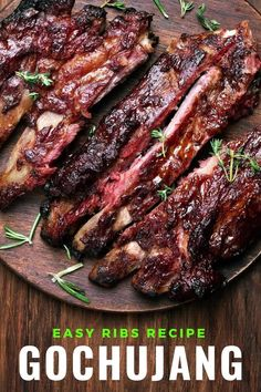 Korean gochujang ribs is a spicy twist on a classic favourite. So easy to make as barbecued ribs, in the oven or slow cooker. #ribs #spicy #gochujang #Keto #korean Easy Rib Recipes, Barbecued Ribs, Around The World Food, Magic Recipe, International Recipes, Original Recipe, Slow Cooker, Spicy, Bacon