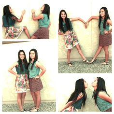 Cute ideas for sister pictures and cute outfits.