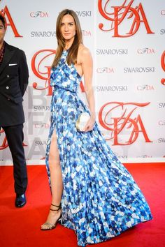 Zani Gugelmann wearing a Peter Som rose print gown at the 2012 CFDA Awards.