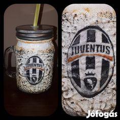 Kínál Egyedi kézműves füles bögre és szívószálas pohár 2 in 1. Juventus : Egyedi kézműves füles bögre és szívószálas pohár 2 in 1. Ajándék Juventus ...