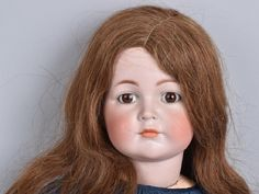 """Original Simon & Halbig 117 Bisque Doll. Closed mouth with fixed eyes. Doll has repairs to head. Body is clean with some crazing on legs. Very desirable doll. 27"""" Very Good"""