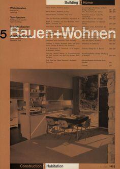 jonasgrossmann:  bauen + wohnen = construction + habitation = building + home / band 6 / heft 5 / 1952@ seals