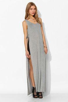 Sparkle & Fade Side-Slit Maxi Slip Dress