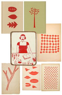 """Margaret Kilgallen, """"Sweet Bye and Bye,"""" book cover and drawings"""