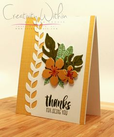 Thanks for being YOU by ilinacrouse - Cards and Paper Crafts at Splitcoaststampers