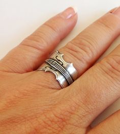 Violin Ring Adjustable Sterling Silver by BellaMantra, $18.00 - WANT WANT WANT